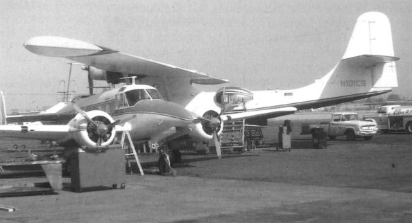Adjacent is the Cousteau Society's PBY-6A N101CS.