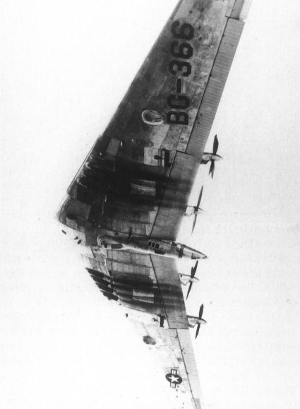 Underside if the YB-35A.