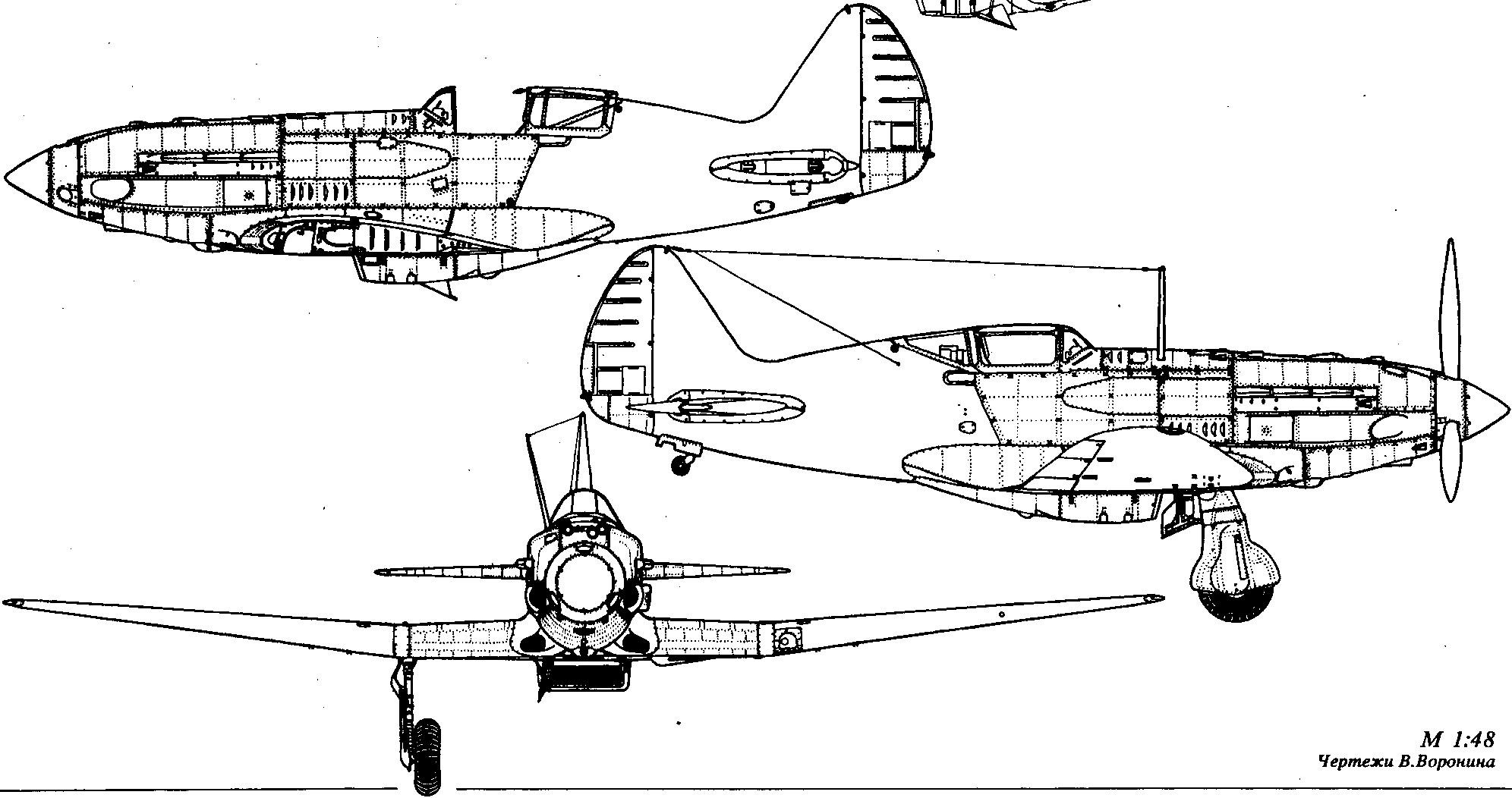 Миг 3 чертеж