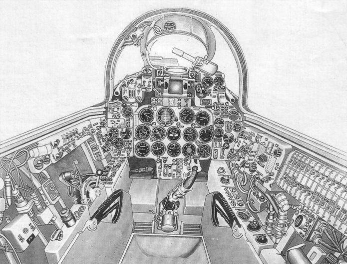 Кабина Су-7Б последних серий.