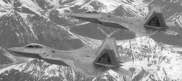 Истребители f 22a над аляской