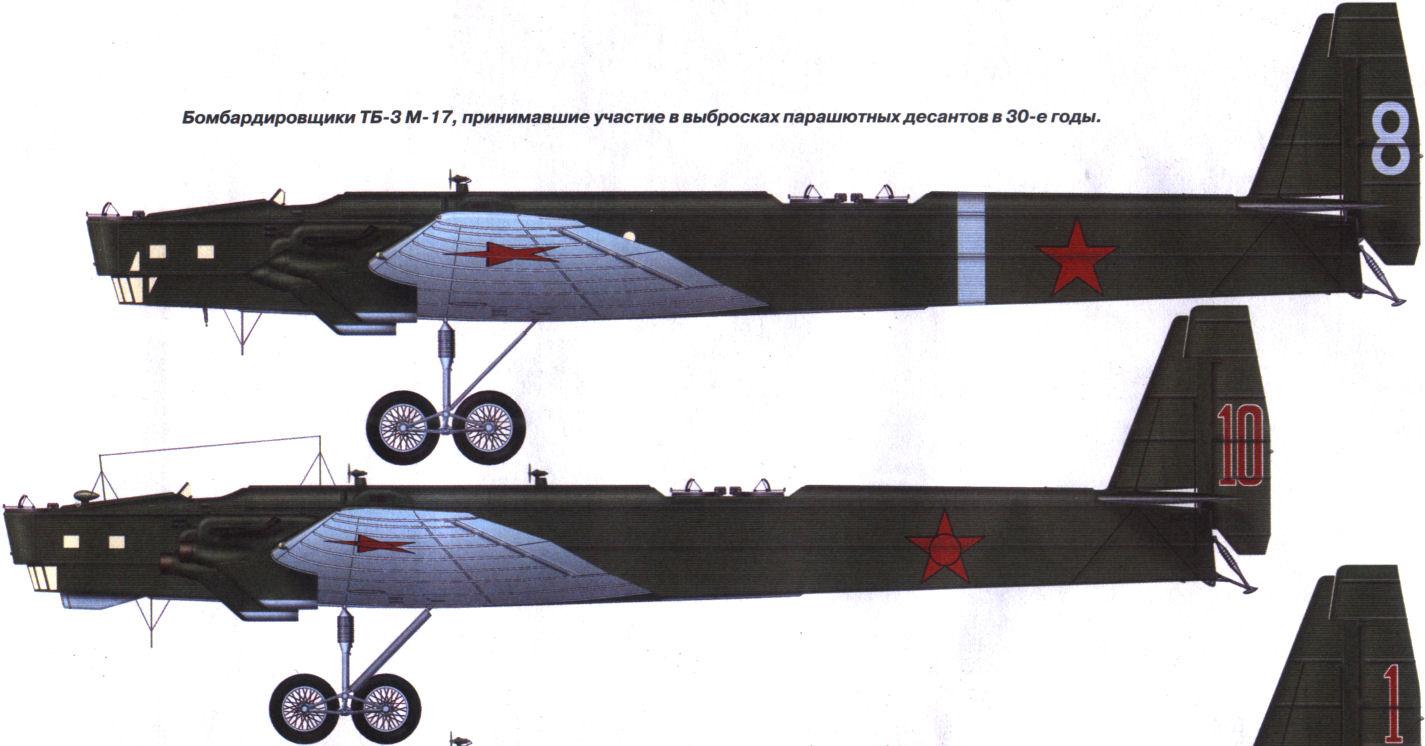 Самолет ТБ3