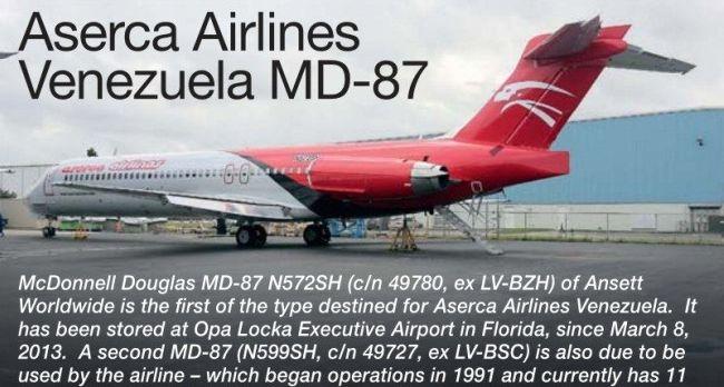 McDonnell Douglas MD-87 N572SH