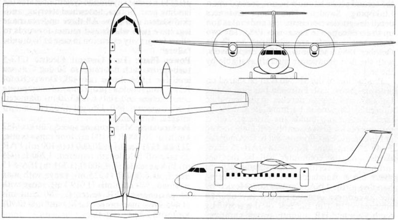 Three-view of the AIT-230-208,