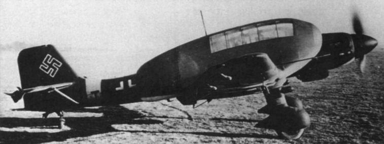 Ju 87d 3 с экспериментальными
