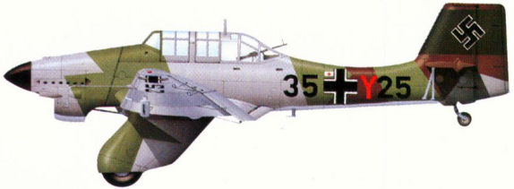 Ju 87A-2 из 2-й группы 2-й